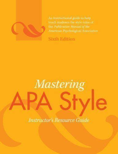 APA Dissertation Format - Short Manual for All Students